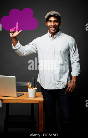 Man giving a shot and solved problem - Stock Photo