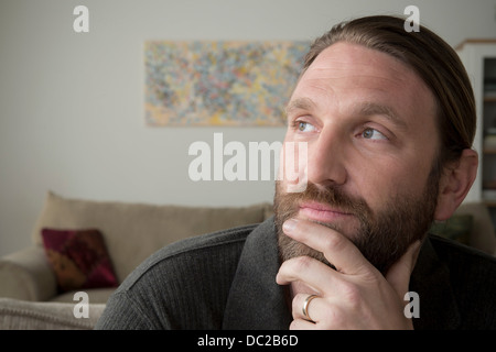 Man day dreaming - Stock Photo
