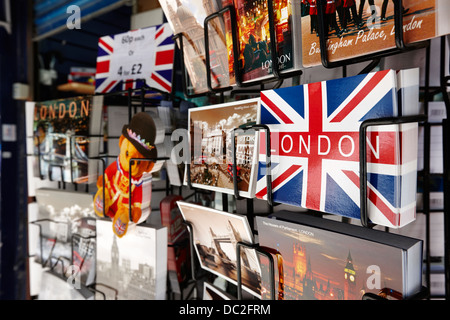 souvenir postcards on sale in london england uk - Stock Photo