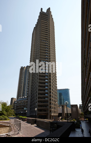 shakespeare tower in the barbican residential estate london england uk