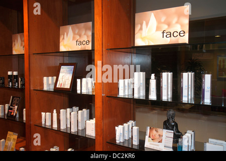 Florida Weston Fort Ft. Lauderdale Bonaventure Resort and & Spa hotel sale shopping hair care skin products wellness - Stock Photo