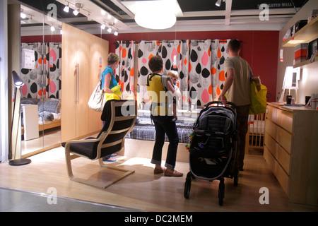 Display bedroom in ikea furniture shop tottenham london for Ikea ft lauderdale