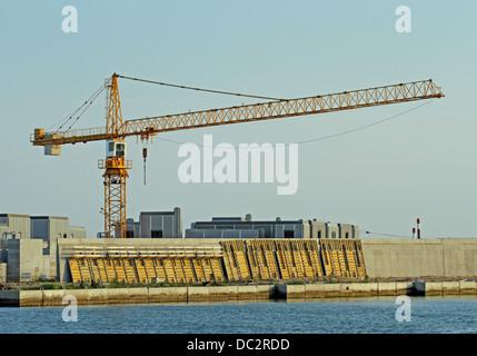 Dam called MOSE PROJECT in the Adriatic Sea near Venice 03 - Stock Photo