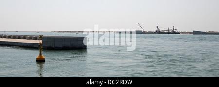 Dam called MOSE PROJECT in the Adriatic Sea near Venice 06 - Stock Photo