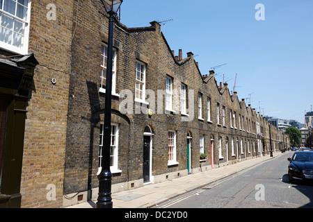 terraced georgian townhouses on roupell street southbank London England UK - Stock Photo