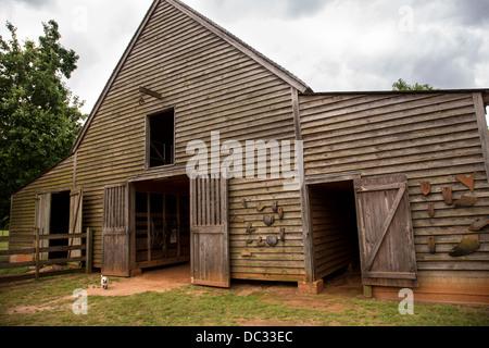 Barn at the President Jimmy Carter Boyhood Farm museum May 6, 2013 in Plains, Georgia. - Stock Photo
