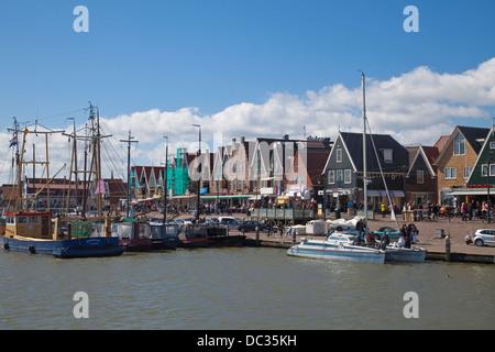 Europe, Netherlands,North Holland, Edam-Volendam, Volendam,Habour - Stock Photo