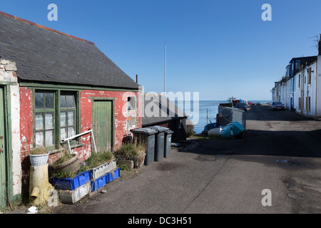 Ferryden village on the South Esk estuary in Scotland. - Stock Photo
