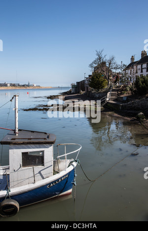 Fishing boats at Ferryden in Scotland - Stock Photo