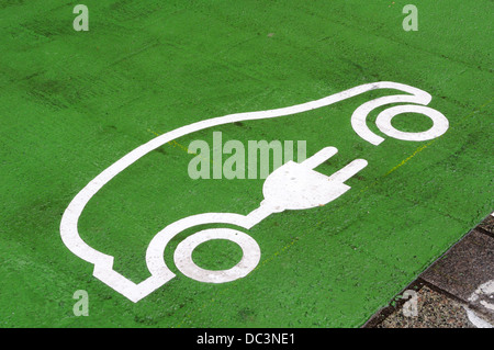 Informative Symbol For Green Energy Painted On A City Street For