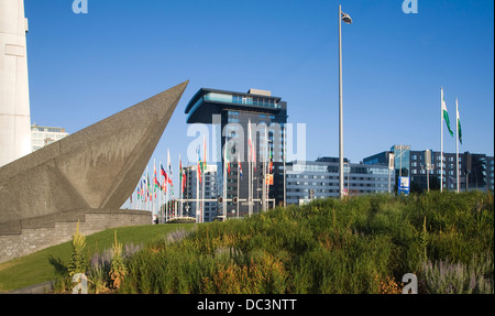 Inntel hotel building Leuvehaven Rotterdam Netherlands - Stock Photo