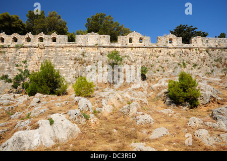 Citadel Fortezza in city of Rethymno, Crete, Greece - Stock Photo