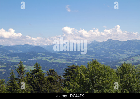 View from the Pfaender near Bregenz in Austria - Stock Photo