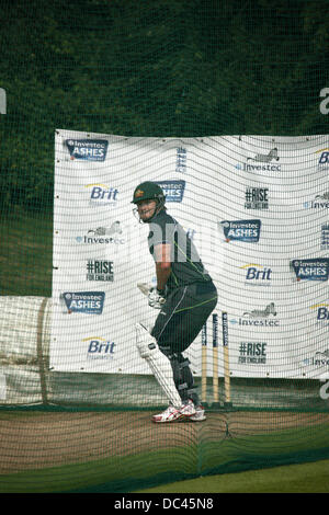 Durham, UK. 08th Aug, 2013. Shame Watson in the nets at Australia's training session at the Emirates Durham International - Stock Photo