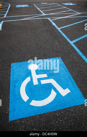 reserved parking for the disabled - Stock Photo