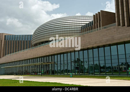 Dome of the meeting hall of the African Union Conference Center and Office Complex (AUCC), Addis Ababa, Ethiopia - Stock Photo