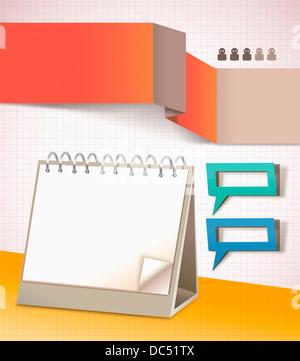 colourful illustration set of memo - Stock Photo