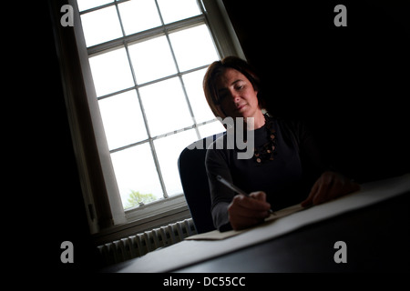 Cllr Susan Williams , leader of Trafford Council. Pictured at Trafford Town Hall - Stock Photo