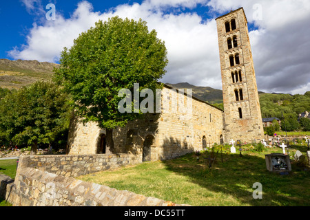 Church of Sant Climent de Taüll is style of romanesque architecture in the province of Lleida, in Catalonia,Spain. - Stock Photo