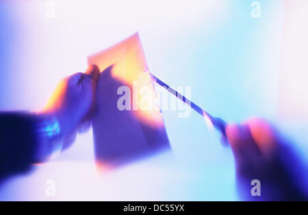 Opening letter - Stock Photo