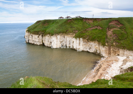 Overlooking Thornwick Bay Flamborough Yorkshire England UK - Stock Photo