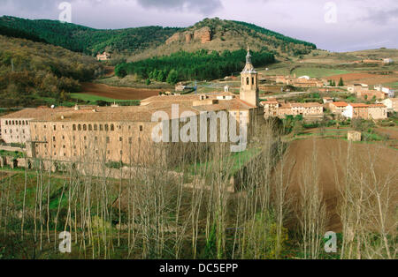 Yuso Monastery. San Millán de la Cogolla, La Rioja. Spain - Stock Photo