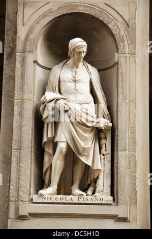 Niccola Pisano,Florence, Italy - Stock Photo