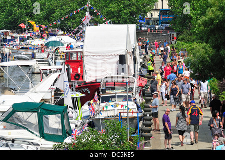 Maidstone, Kent, England, UK. Annual Maidstone River Festival (July 27th 2013) - Stock Photo