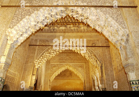 Sala de Justicia or Sala de los Reyes (Hall of the Kings), Alhambra Stock Pho...