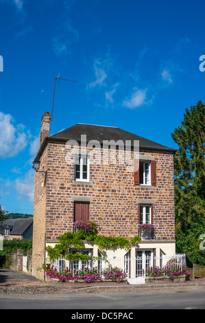 A detached house in Clécy (in the Calvados department of Normandy, north west France). - Stock Photo