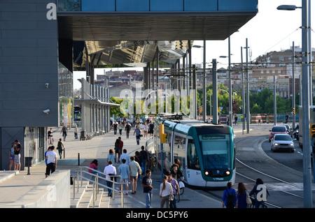 Disseny Hub Barcelona, Design Hub Barcelona, DHUB. Plaça de les Glòries, Poblenou, 22@, Barcelona, Catalonia, Spain. - Stock Photo