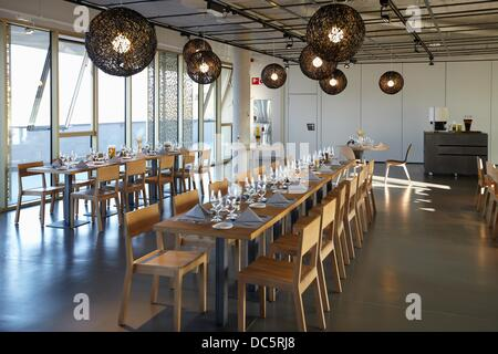 Dining room, Basque Culinary Center, Faculty of Gastronomic Sciences and a Centre for Research and Innovation in - Stock Photo