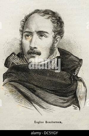 France, History, 19th Century. Eugène Rose de Beauharnais, Prince Français, Prince of Venice, Viceroy of the Kingdom - Stock Photo