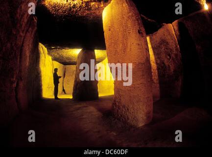 Menga dolmen. Antequera, Málaga province. Spain - Stock Photo