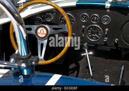 Interior view of a classic Shelby 427 Ford Cobra. - Stock Photo