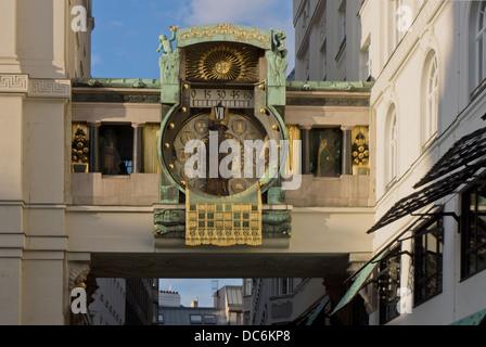 The Art Nouveaum, Anker clock , designed in 1911 by the painter and sculptor Franz von Matsch - Stock Photo