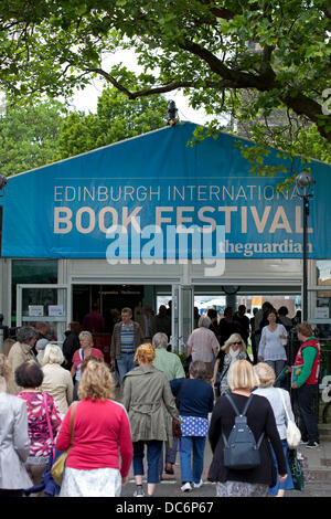 Edinburgh, 10th August 2013, opening day of the 30th Edinburgh International Book Festival 2013 - Stock Photo