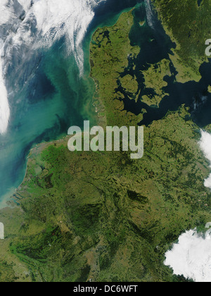 Netherlands and denmark stock photo 55273820 alamy vector netherlands and denmark satellite view with sediment showing in the north sea stock photo gumiabroncs Image collections