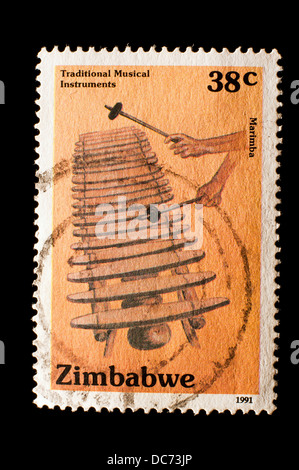 old Zimbabwe postage stamp - Stock Photo