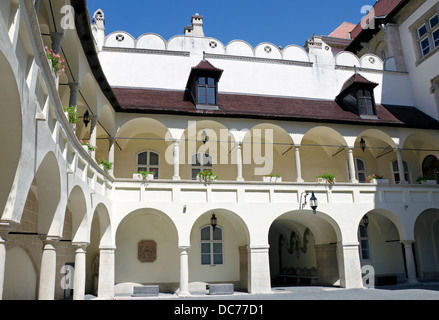 Courtyard of the Old town Hall in Bratislava - Stock Photo