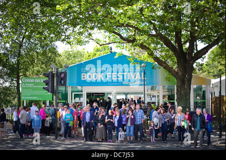 Edinburgh, UK. 11th Aug, 2013. The Edinburgh International Book Festival. Credit: Steven Scott Taylor/ Alamy Live - Stock Photo