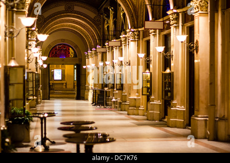 Freyung Passage, shopping arcade in Palais Ferstel, Palais Ferstel, Vienna, Austria - Stock Photo