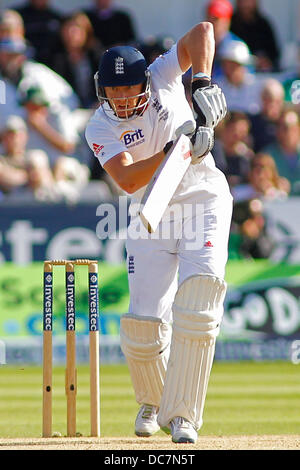 Chester Le Street, UK. 11th Aug, 2013. Jonny Bairstow during day three of the Investec Ashes 4th test match at The - Stock Photo