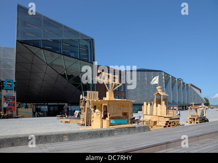 Areas and buildings of the old shipyard in Elsinore have turned into The Culture Yard in Elsinore, Denmark. Adventure - Stock Photo