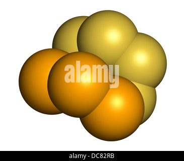 Selenium disulfide dandruff shampoo active ingredient, chemical structure. Selenium sulfide has antifungal properties. - Stock Photo