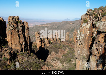 Valley of Desolation, Graaff-Reinet, Camdeboo National Park, South Africa - Stock Photo