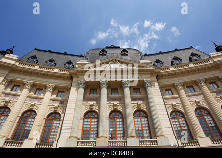 The Central University Library is located in central Bucharest. - Stock Photo