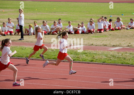 australian primary school athletics and sports day at the sydney sports academy in narrabeen,new south wales - Stock Photo