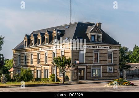 The gendarmerie, La Mailleraye-sur-Seine, Seine-Maritime department, Haute-Normandie region in northern France. - Stock Photo
