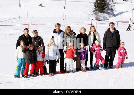 Queen Beatrix, Prince Willem-Alexander, Princess Maxima with their daughters Princess Amalia, Princess Alexia and - Stock Photo